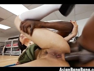 Asian Milcah Halili Fucked In The Ass With Great Big Black Cock