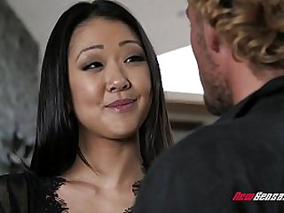 Horny Asian Wife Squirts All Over Big Cock