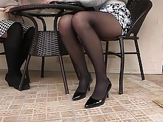 Asian Girl In Pantyhose