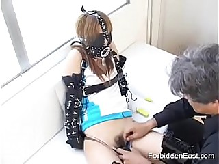 Japanese Submissive Teen Gets Used In Asian Kink Scene With Fetish Gear