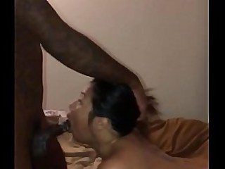 Asian double penetrated by BBC and Anal dildo
