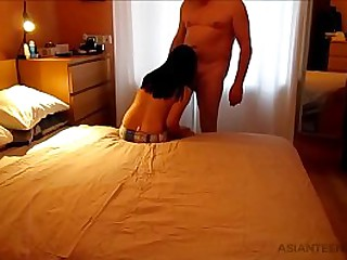 HOMEMADE SEX TAPE WITH MATURE ASIAN WHORE