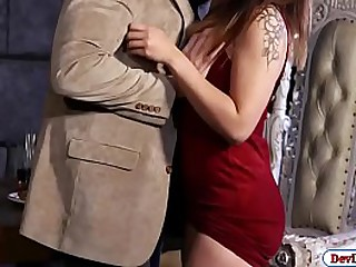 Brunette asian letting her rich guy fuck her all out