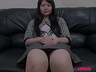 Asian mature woman called Aki Kitamura enjoying interview before she dives into the sex acts.