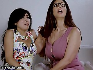 Busty Lesbian Mom Loves Young Asian Pussy