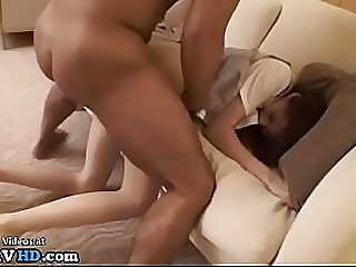 Japanese long legs beauty best clothed gangbang