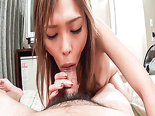 Rina, amazing porn show in POV, which makes her swallow