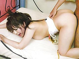 Milf with amazing boobs, Meina, endures cock in hardcore