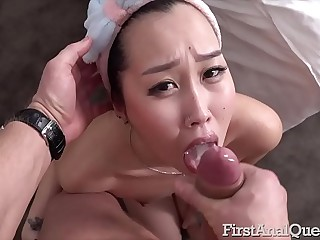 Asian First-Timer Liloo Gets Butt-Fucked