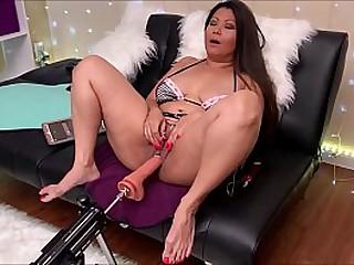 Sexy Asian MILF gets New Sex Machine for Slut Training