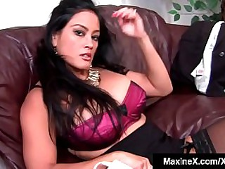 Asian Milf MaxineX is fucked long & hard until a big black cock blows his big load up her tight ass for a nice anal creampie!