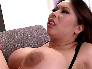 Hot Asian bombshell with big tits Tigerr Benson double penetrated by two studs