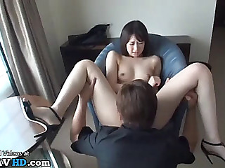 Japanese miniature 18yo accepts to receive screwed