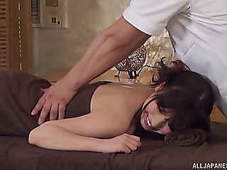 Fleshly massage ends up with the japanese beauties engulfing the penis